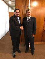 Foreign Minister of Uruguay Meets Ambassador of Qatar