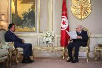 President of Tunisia Meets Ambassador of Qatar
