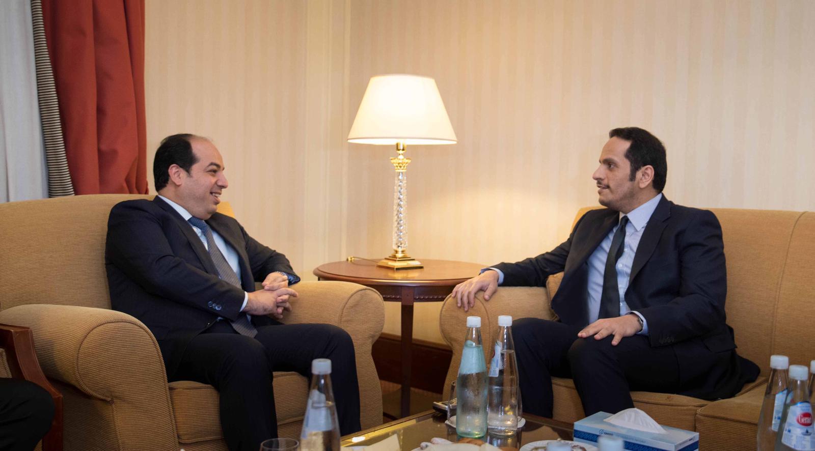 نائب رئيس مجلس الوزراء وزير الخارجية يجتمع نائب رئيس المجلس الرئاسي لحكومة الوفاق الوطني الليبية