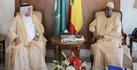 رئيس السنغال يستقبل سفير دولة قطر