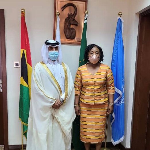 Minister of Foreign Affairs and Regional Integration of Ghana Meets Ambassador of Qatar