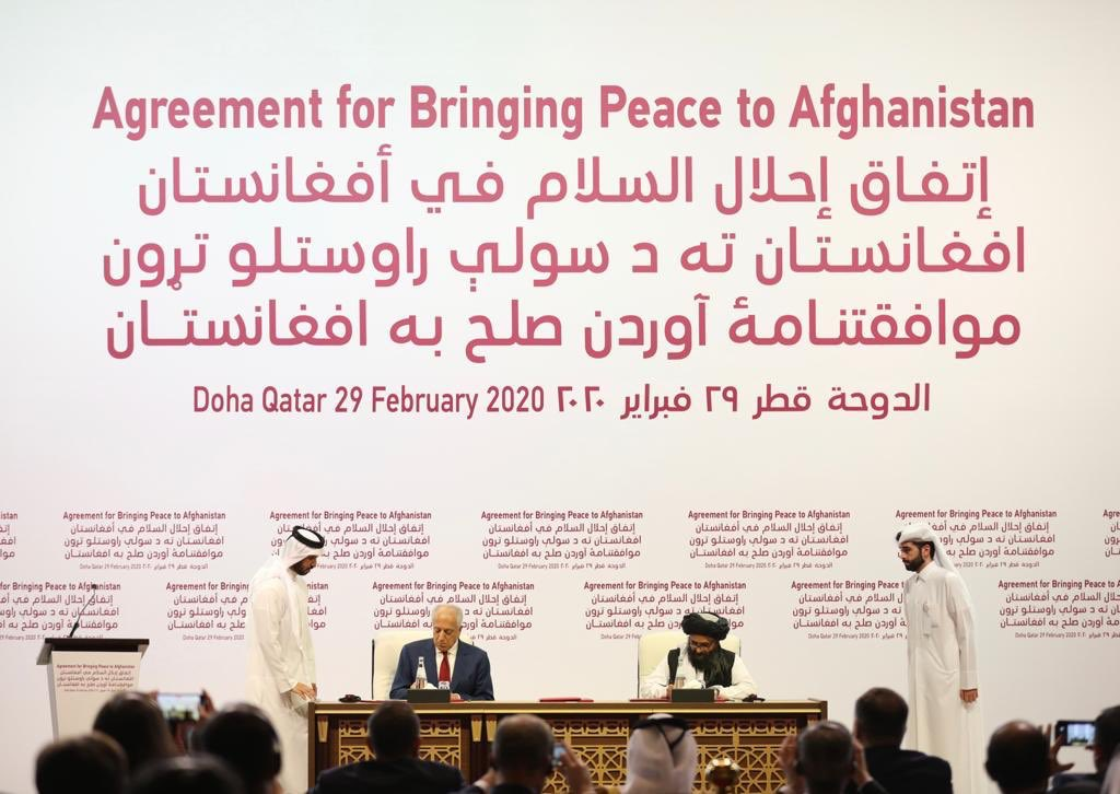Agreement for Bringing Peace to Afghanistan Signed Under Auspices of the State of Qatar