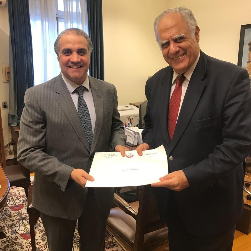 رسالة من نائب رئيس مجلس الوزراء وزير الخارجية إلى رئيس البرلمان اليوناني