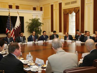 وزير الخارجية يؤكد أهمية الشراكة الاقتصادية بين قطر والولايات المتحدة