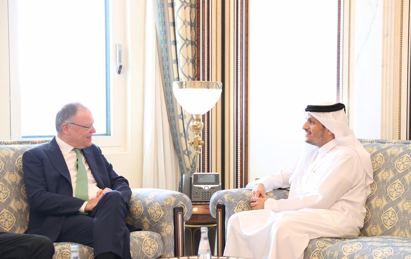 نائب رئيس مجلس الوزراء وزير الخارجية يجتمع مع رئيس وزراء ولاية /ساكسونيا السفلى/ بألمانيا