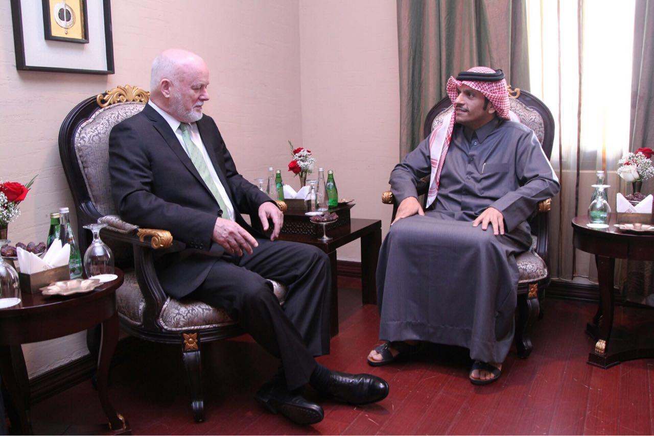 سعادة وزير الخارجية يجتمع مع رئيس الدورة الـ 71 للجمعية العامة للأمم المتحدة