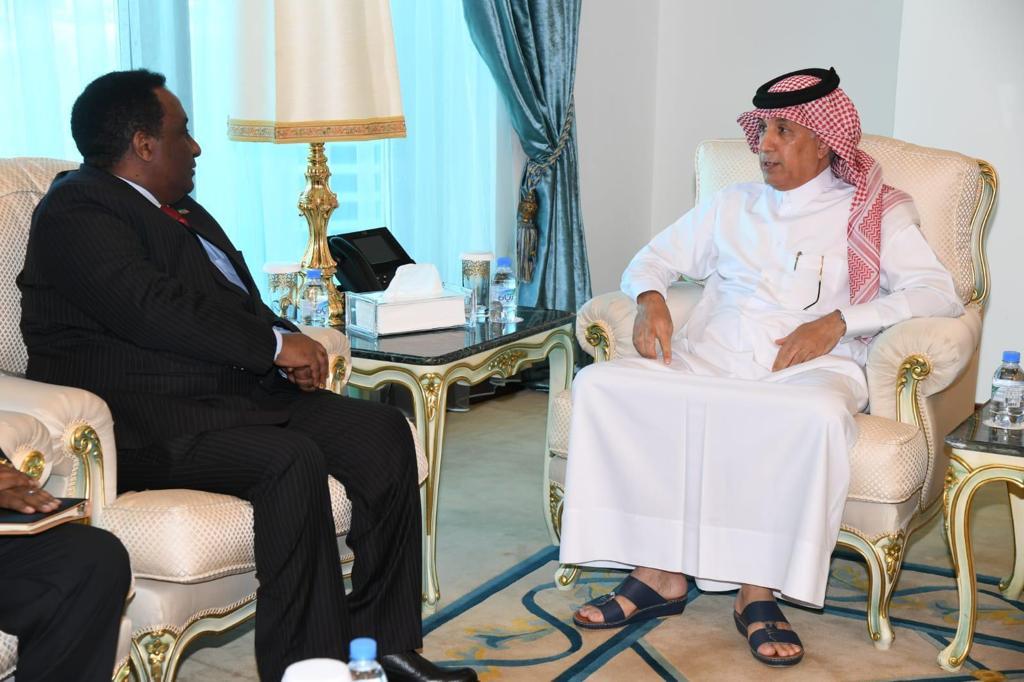 وزير الدولة للشؤون الخارجية يودع السفير الأثيوبي