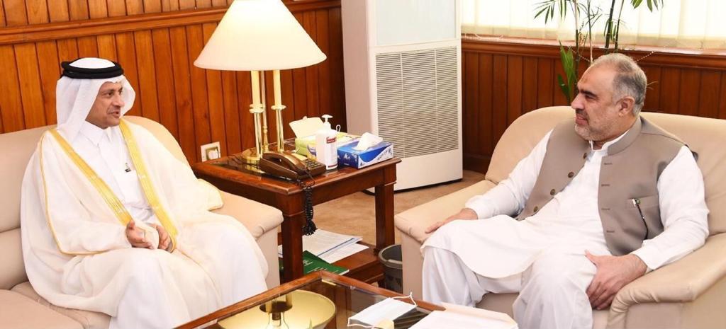 Pakistan's National Assembly Speaker Meets Qatar's Ambassador