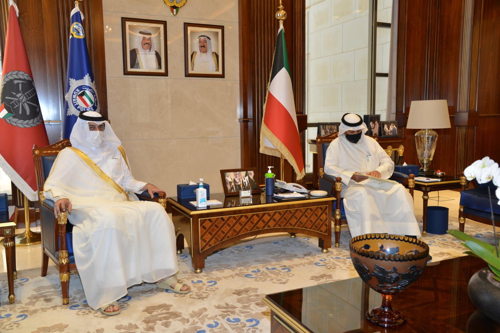 Prime Minister and Minister of Interior Sends Written Message to Kuwaiti Deputy Prime Minister and Interior Minister