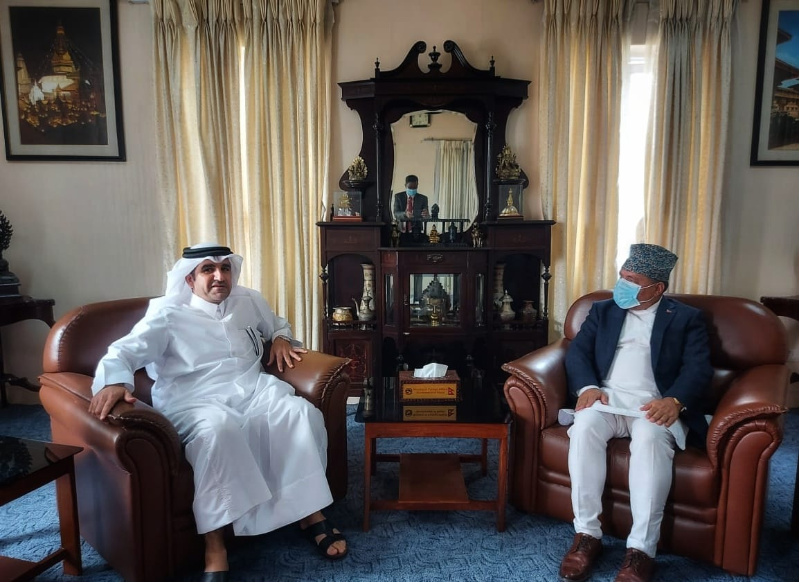 Foreign Secretary of Nepal's Foreign Affairs Ministry Meets Qatar's Ambassador