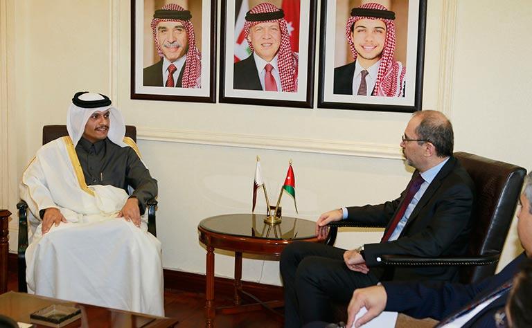 سعادة وزير الخارجية يجتمع مع نظيره الأردني