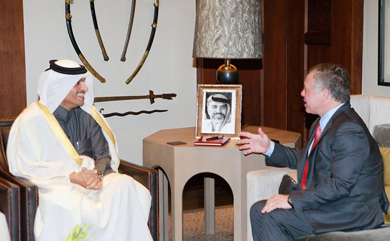 King of Jordan Meets HE Foreign Minister