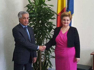 وزير الدولة للشؤون الخارجية يجتمع مع نائبة رئيس وزراء رومانيا