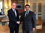 French Foreign Ministry Secretary-General Meets Qatari Ambassador