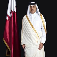 HH the Emir Holds Telephone Conversation with Palestinian President
