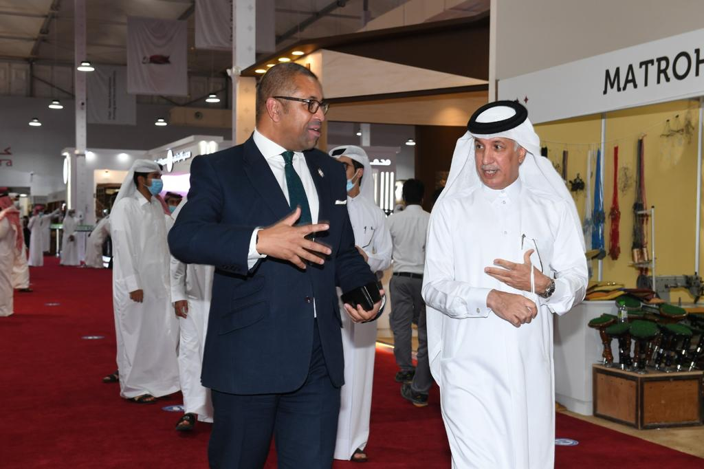 Minister of State for Foreign Affairs, British Minister of State for MENA Visit Exhibition S'hail 2020
