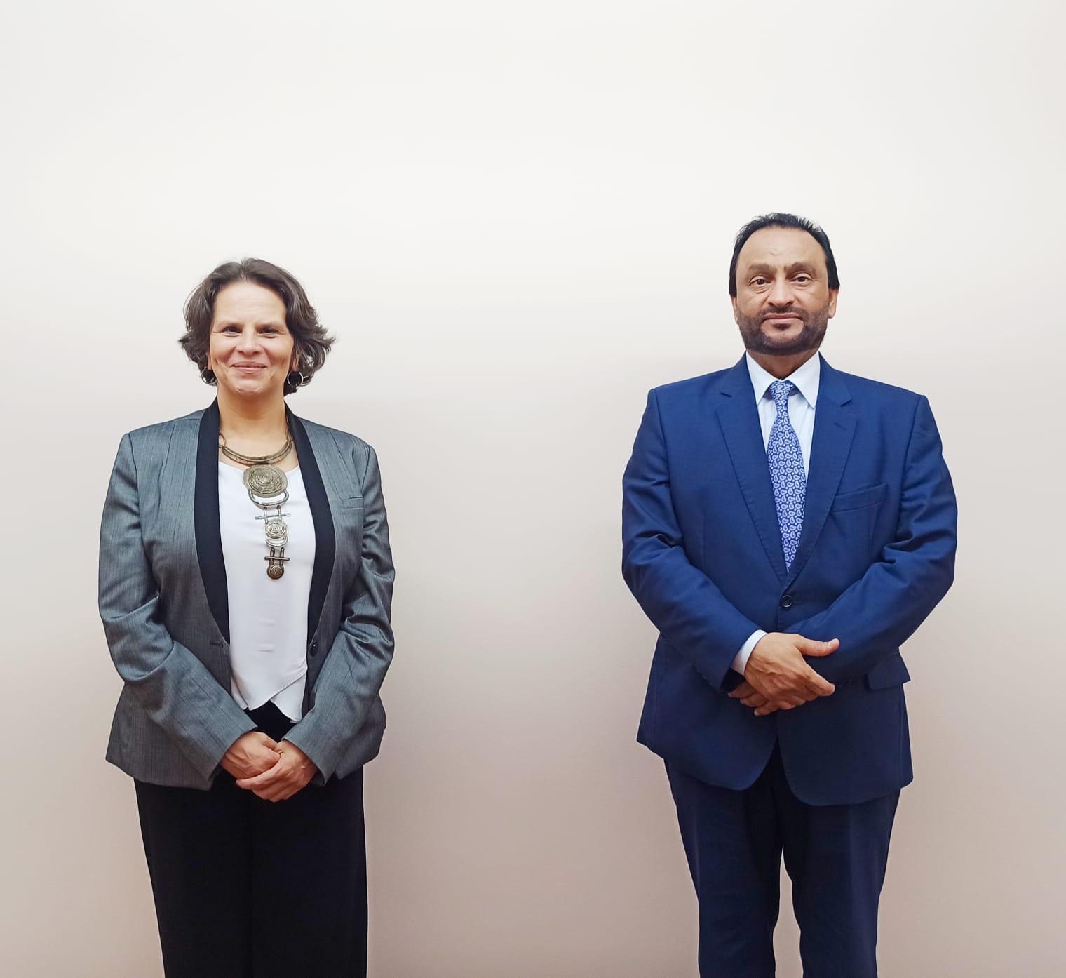 وزيرة الثقافة والشباب في جمهورية كوستاريكا تجتمع مع سفير دولة قطر