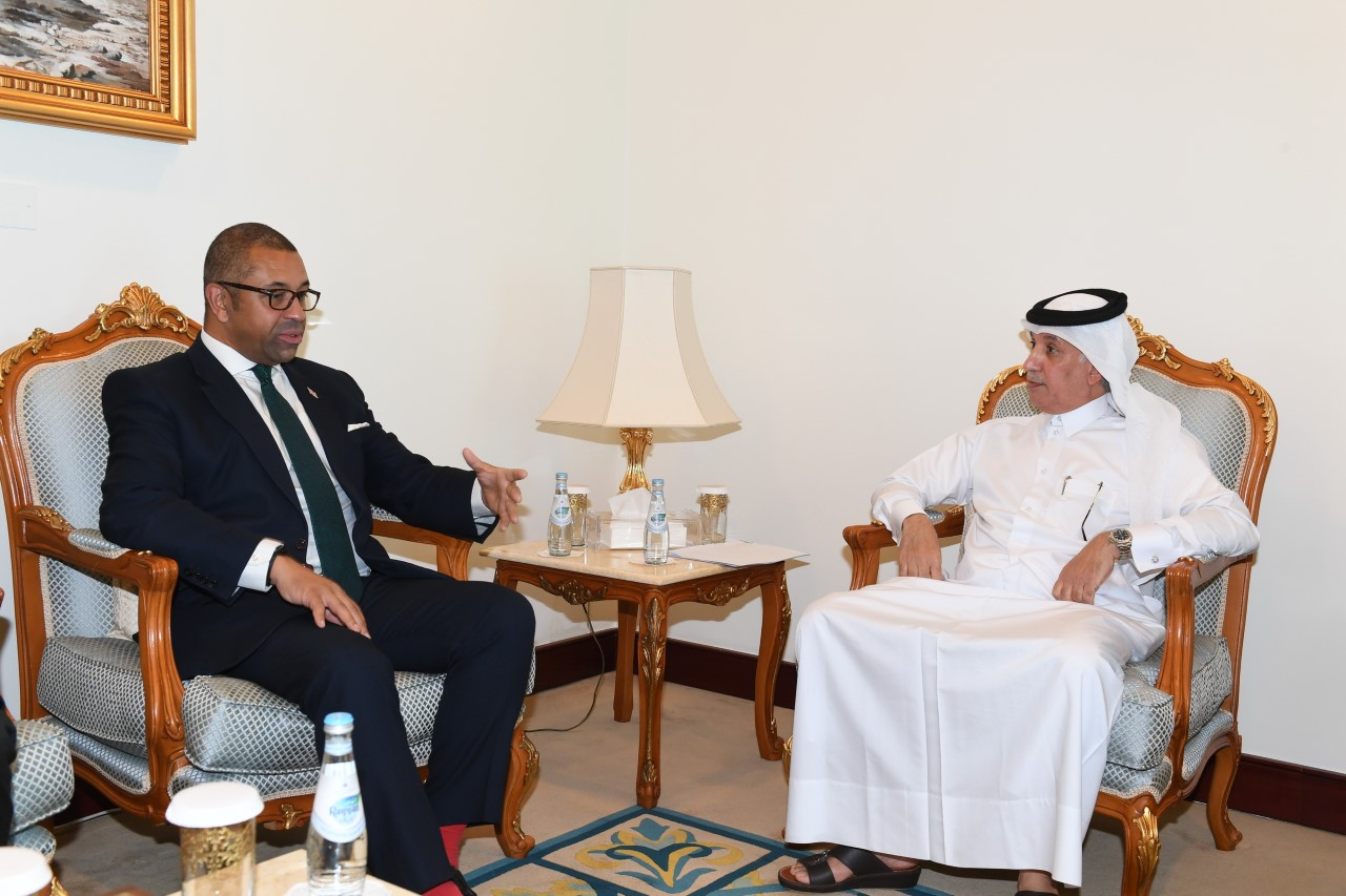 Minister of State for Foreign Affairs Meets British Minister of State for Middle East and North Africa