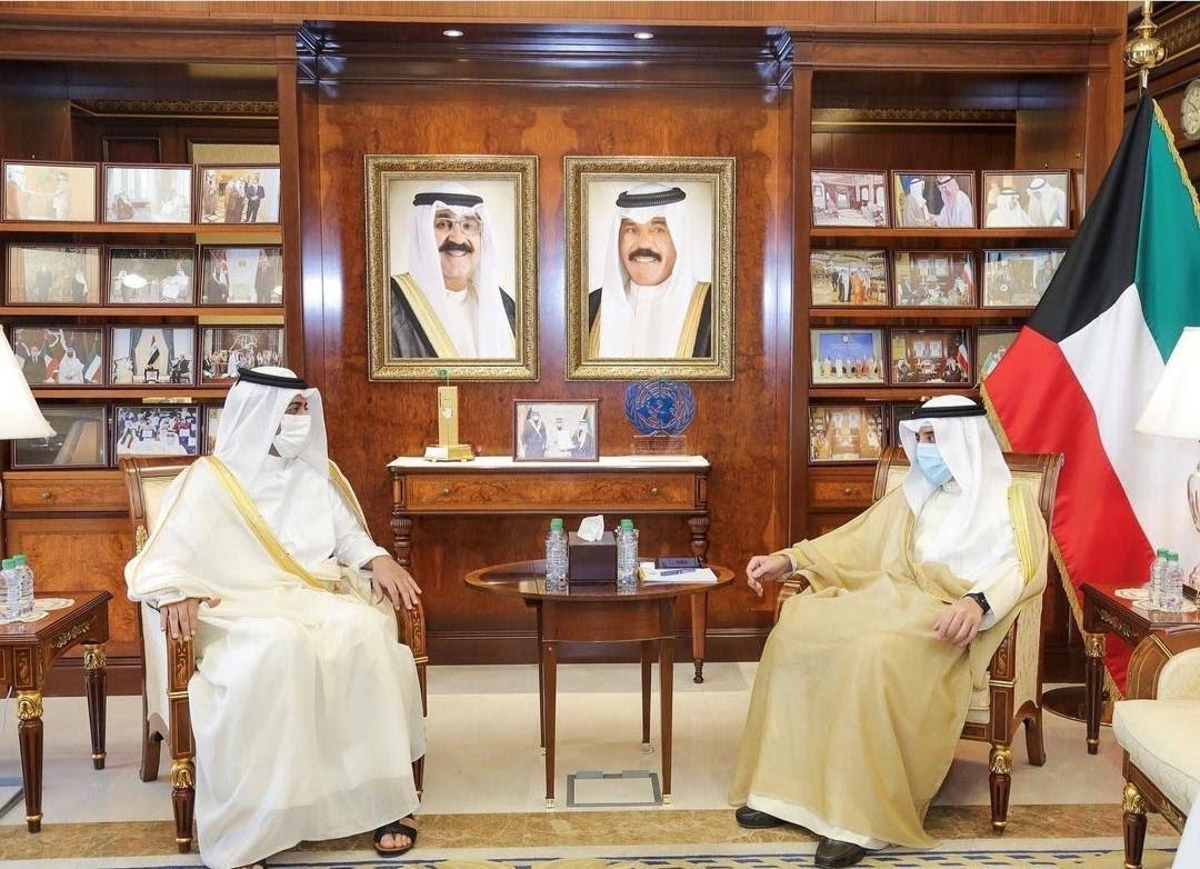 Kuwaiti Minister of Foreign Affairs Meets Qatar's Ambassador