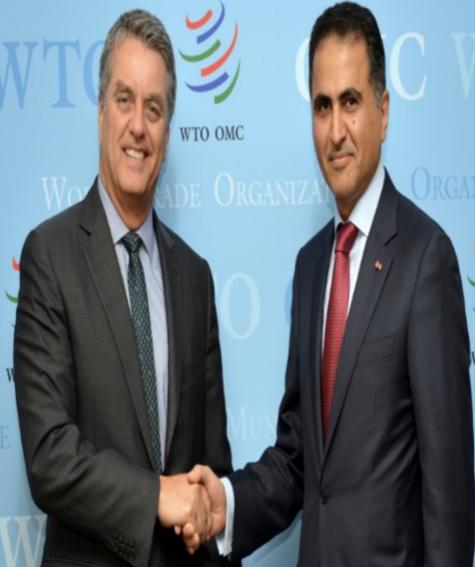 رسالة خطية من نائب رئيس مجلس الوزراء وزير الخارجية إلى المدير العام لمنظمة التجارة العالمية