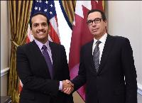 FOREIGN MINISTER OF QATAR MEETS US SECRETARY OF THE TREASURY