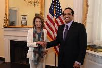 FOREIGN MINISTER MEETS 2 SENIOR U.S. CONGRESS MEMBERS