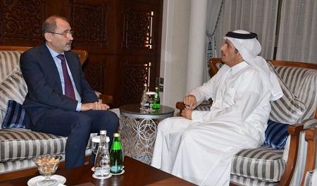 سعادة وزير الخارجية يلتقي نظيره الاردني