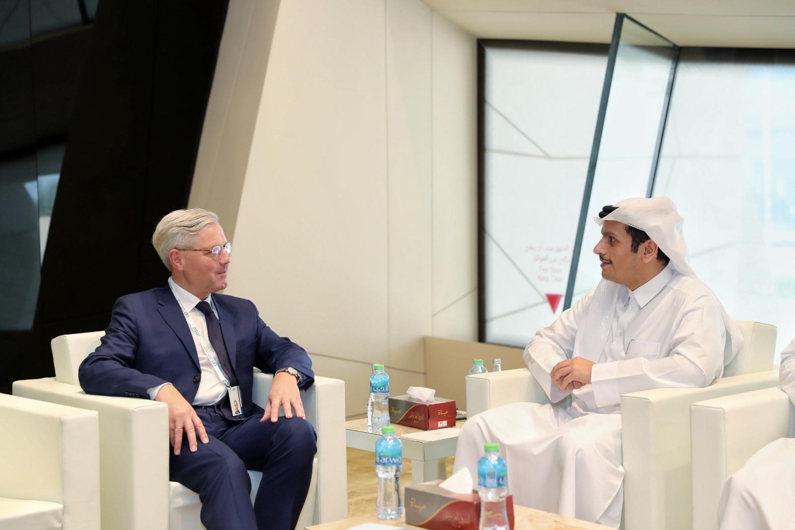 نائب رئيس مجلس الوزراء وزير الخارجية يجتمع مع رئيس لجنة العلاقات الخارجية في البرلمان الألماني