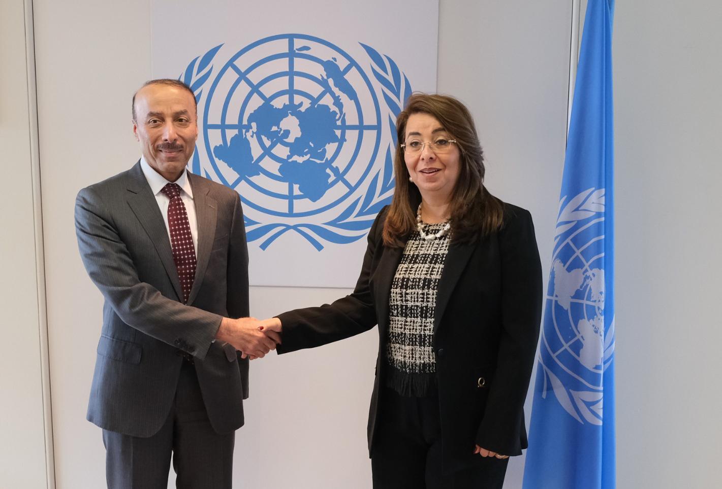 نائب رئيس مجلس الوزراء وزير الخارجية يبعث برسالة إلى المديرة العامة لمكتب الأمم المتحدة المعني بالجريمة والمخدرات