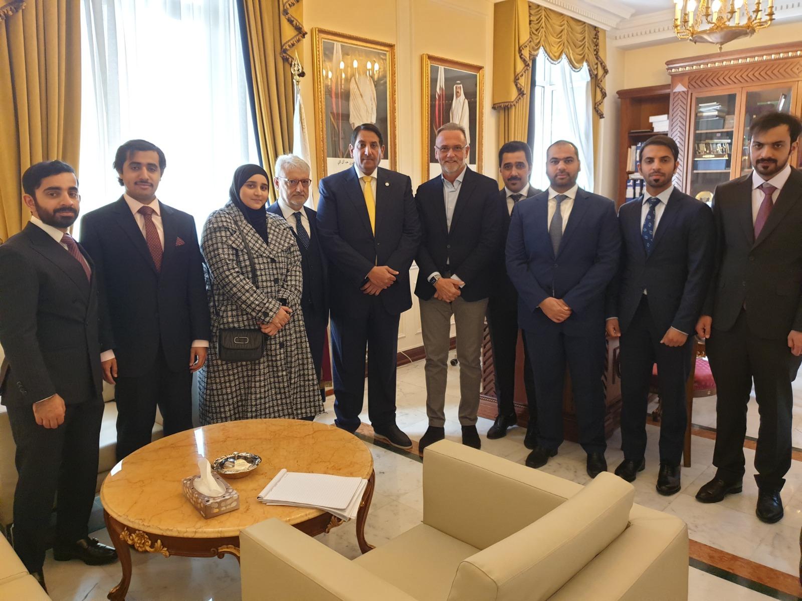 سفير قطر يجتمع مع رئيس المجموعة البرلمانية للصداقة القطرية – الإيطالية