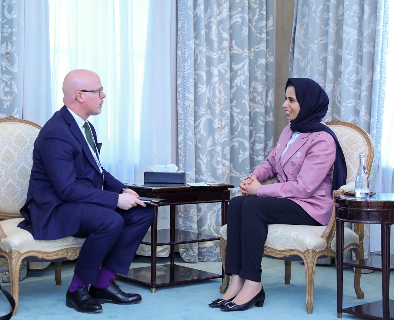 مساعد وزير الخارجية تجتمع مع وزير الدولة للشؤون الخارجية بمملكة النرويج
