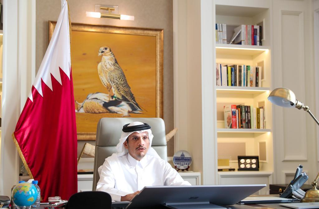 نائب رئيس مجلس الوزراء وزير الخارجية : قطر ملتزمة بمحاربة داعش رغم الظروف الاستثنائية بسبب (كوفيد- 19)