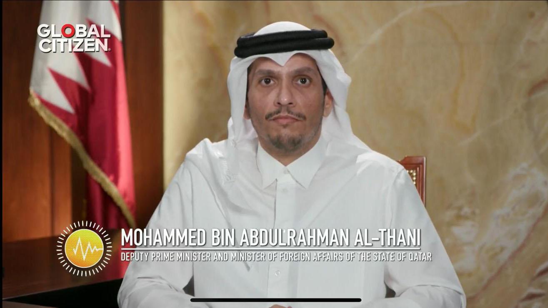 نائب رئيس مجلس الوزراء وزير الخارجية يعلن تعهد قطر بمبلغ 10 ملايين دولار لمنظمة الصحة العالمية لمكافحة جائحة (كوفيد-19)