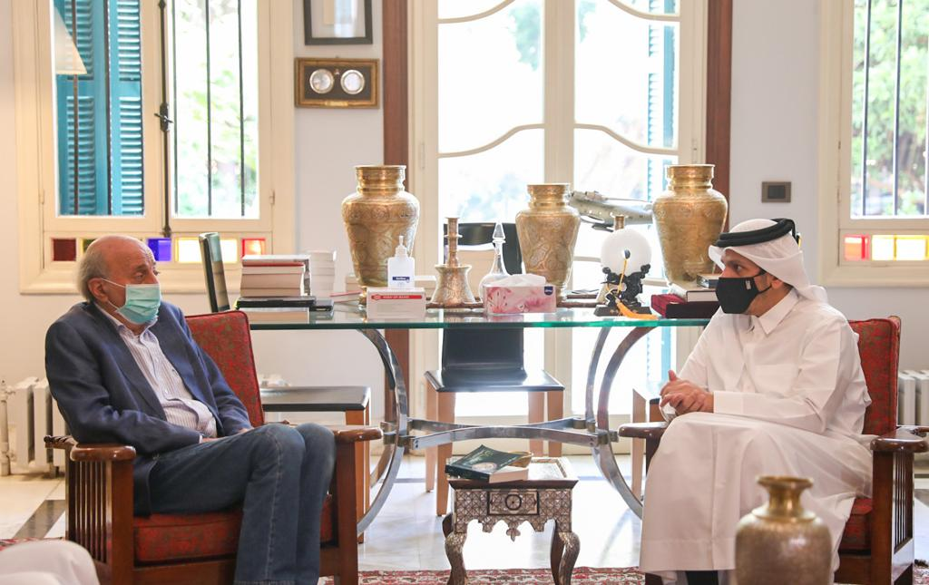 نائب رئيس مجلس الوزراء وزير الخارجية يجتمع مع رؤساء الأحزاب والكتل النيابية اللبنانية