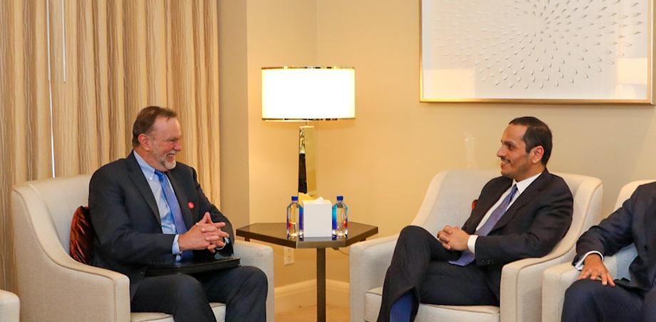 نائب رئيس مجلس الوزراء وزير الخارجية يجتمع مع مساعد وزير الخارجية الأمريكي للشؤون الإفريقية