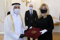 President of Slovak Republic Receives Credentials of Ambassador of Qatar