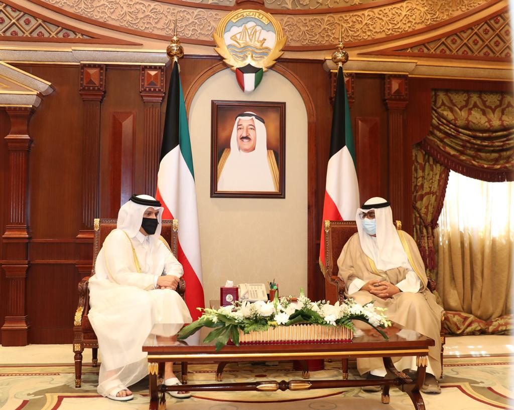 Crown Prince of Kuwait Meets Deputy Prime Minister and Minister of Foreign Affairs