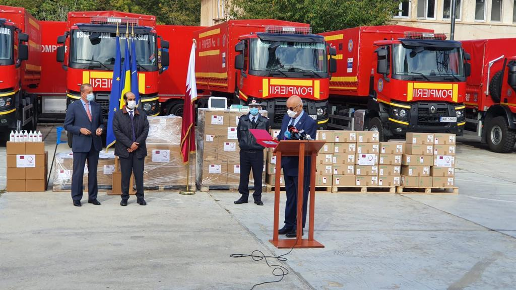 Qatar's Embassy Delivers Medical Aid to Romania
