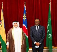 President of Namibia Receives Credentials of Qatar's Ambassador