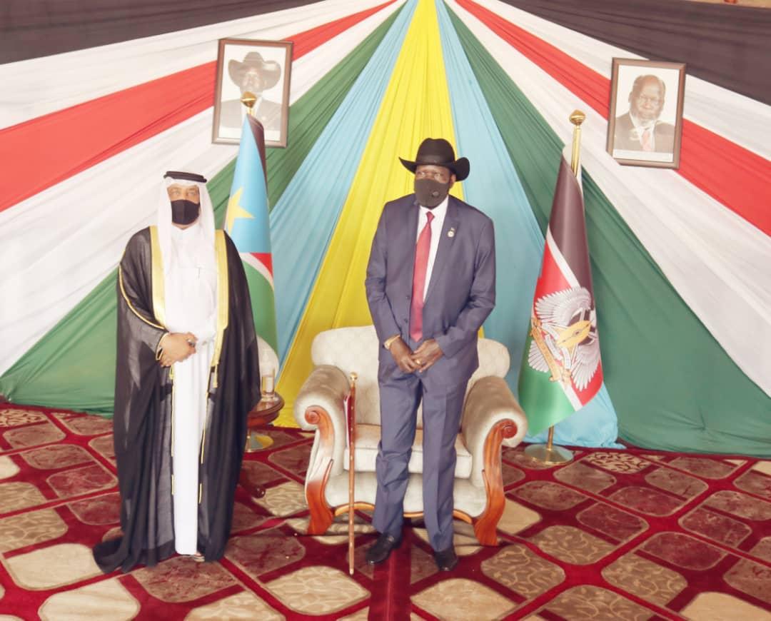 رئيس جمهورية جنوب السودان يتسلم أوراق اعتماد سفير دولة قطر