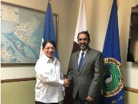 Nicaragua's Foreign Minister Receives Copy of Credentials of Qatari Ambassador