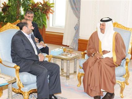 معالي رئيس الوزراء وزير الخارجية يستقبل مساعد الرئيس الإيراني للشؤون الدولية