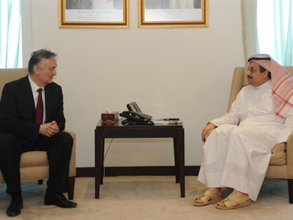 HE Foreign Minister Meets Bosnia-Herzegovina Deputy Premier and Foreign Minister