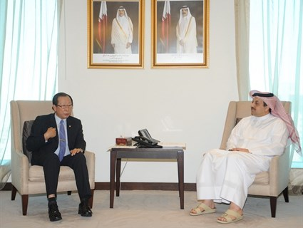 HE Foreign Minister Meets Korean Senior Official