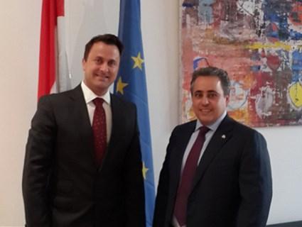 رئيس وزراء لوكسمبورج يستقبل سفير دولة قطر