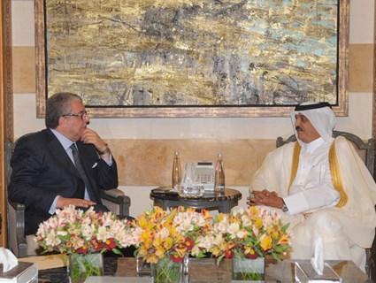 Lebanese Interior Minister, Qatar's Ambassador Review Bilateral Ties