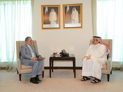 HE the Foreign Minister Meets HE Bosnian Ambassador in Doha