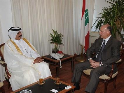 بحث العلاقات الثنائية بين دولة قطر و لبنان