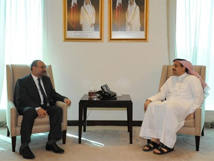 HE Foreign Minister Meets Head of Syrian Opposition Government