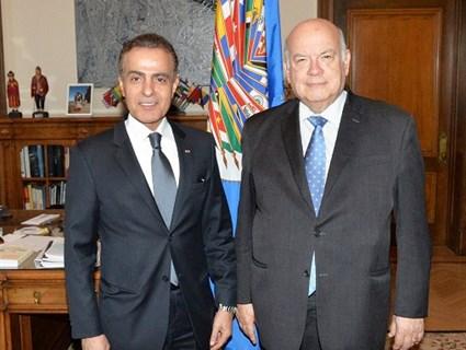 OAS Secretary-General Meets Qatar's Ambassador in Washington